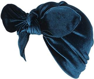 MoreChioce Berretto Beanie Wrap Hijab con Bowknot,Foulard da Donna con Nodo di Moda Elastico Cappello Turbante Cappello,Sl...