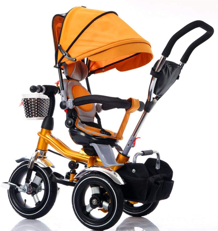 Kinder-Dreirad Mit Drehbarer Rückenlehne Kinderwagen-Fahrradtraining Für 1-3-6 Jahre,B