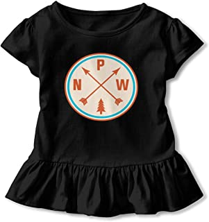 Pacific Northwest Arrows Shirt Cartoon Toddler Flounced T Shirts Tee Shirts for 2-6T Baby Girls