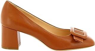 LEONARDO SHOES Luxury Fashion Womens 4560NAPPABROWN Brown Pumps | Season Permanent