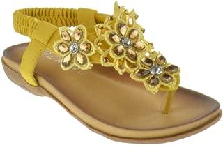 Crab Crab-1825Km Little Girls Gladiator Rhinestone Comfort Flat Sandals