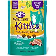 WELLNESS Kittles Natural Grain Free Cat Treats, Tuna & Cranberries, 6-Ounce Bag