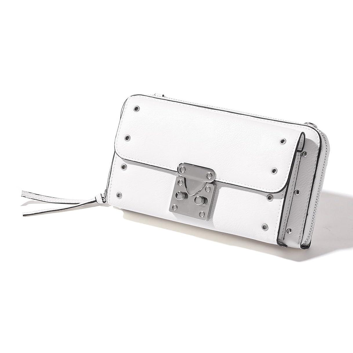 押し下げる蒸責めJOKnet 錠前金具付き3wayポシェット レディース バッグ ショルダーバッグ 鞄 ポシェット お財布ポシェット スマホポシェット