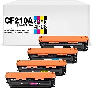 MyWay Compatible Toner Cartridge Replacement for HP CF210A CB540A CE320A for HP Laserjet CP1210, CP1215, CP1510, CM1312, CP1525, CM1415, M251, MPF M276 Printer (B/C/Y/M), 4-Pack