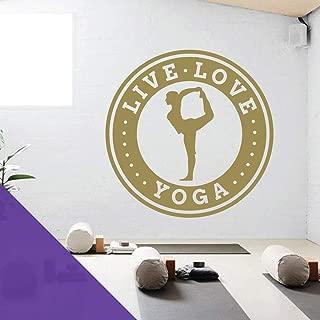 Live Love Yoga - Fitness Studio Wall Art Sticker [Purple]