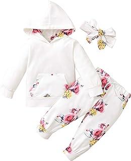 Conjunto de ropa para bebé con volantes de Bowknot. Mameluco para bebes con pantalones florales con lazo para el moño.