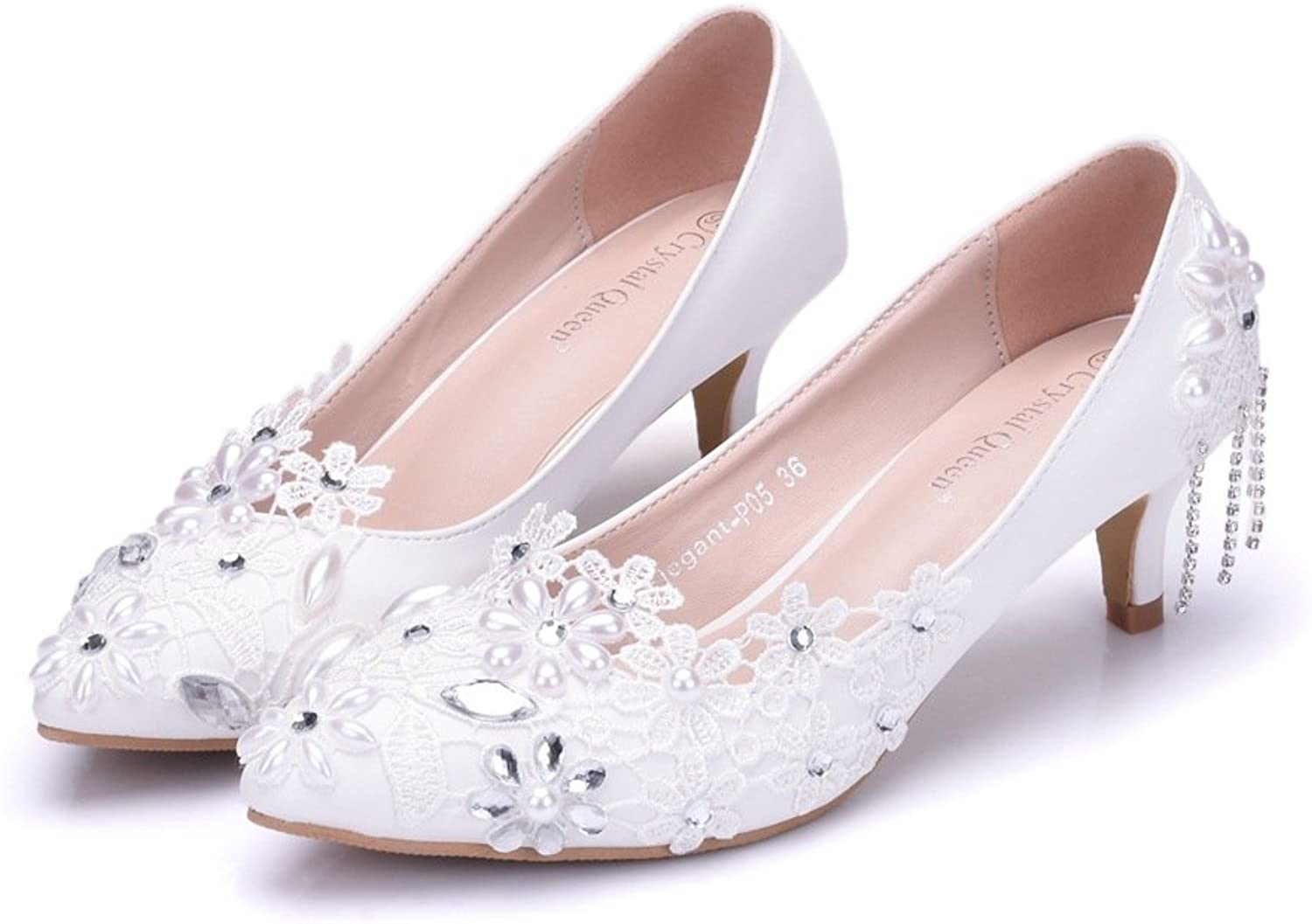 SUNNY Store Wedding shoes Women Sandals with Bridal shoes Women shoes Low Heels