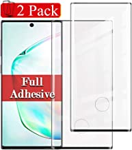 2 Pack Full Adhesive Note 10 Plus/pro Screen Protector Compatible with Samsung Galaxy Note 10plus Tempered Glass 9H Hardness Glaxay note10pro Bubble Free Samsum Gaxaly note10+ Protective Film 6.8 in