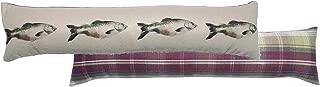 Salmon Cream Heather Tartan Check Evans Lichfield Draught Excluder 90cm x 20cm
