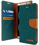 Goospery S8-CAN-GRN Schutzhülle für Samsung Galaxy S8 (2017) Denim Stand Flip Cover (Grün)