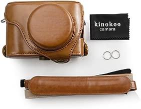 kinokoo Fujifilm Leather Camera Case with shoulder strap for Fujifilm X100F 23mm Lens  brown