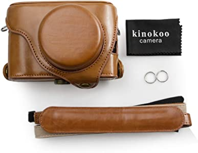 kinokoo Fujifilm Leather Camera Case with shoulder strap for Fujifilm ...