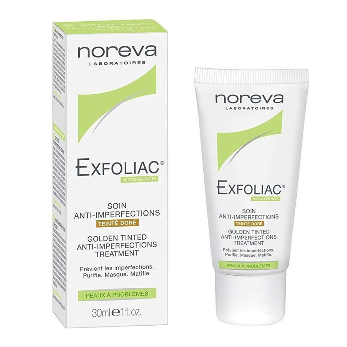 経済露マナーNoreva Exfoliac Anti-imperfections Care Golden Tinted 30ml [並行輸入品]