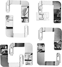 Nishore Conjunto de pés de costura Hemmer para máquina de costura 7pcs Professional Sewing Crafting Hemmer Foot para Janom...