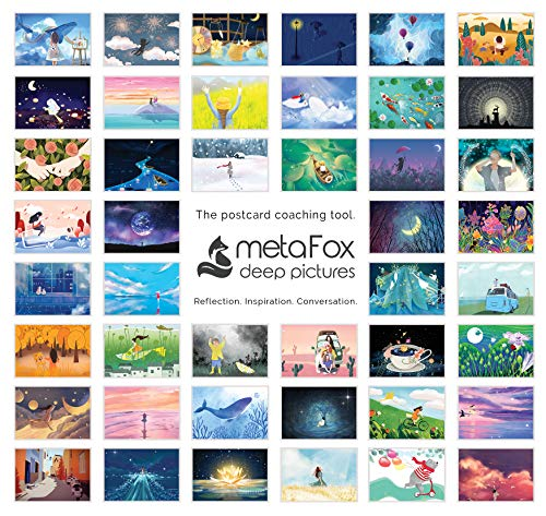 metaFox Dreamland - Inspirational Postcards Pack for Coaching & Self-Reflection (Englisch)