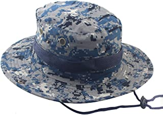 Lalago Outdoor Camping Hat Wide Brim Camouflage Boonie Hat Sun Protection  Hat c24d692fecd5