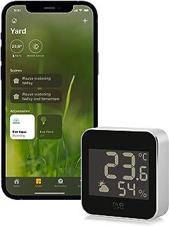 Eve 20EBS9901 Weerstation met Apple HomeKit-technologie voor het bewaken van temperatuur, luchtvochtigheid en luchtdruk; w...