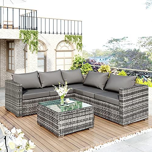SUHUA Garden Corner Sofa Rattan ...