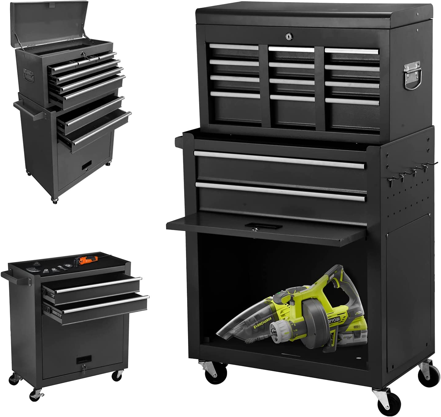 Buy 20 Drawer High Capacity Rolling Tool Chest, Removable Cabinet ...