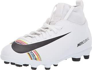 Junior Superfly 6 Club FG/MG Soccer Cleats (White/Black-White)