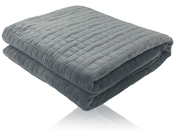 Hypnoser Weighted Blanket Cover For Inner Weighted Layer Quilted Duvet Cover Dark Grey 48 X72