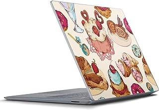 igsticker Surface Laptop3 15インチ 専用スキンシール Microsoft サーフェス ラップトップ カバー フィルム ステッカー アクセサリー 保護 008480 ラブリー お菓子 スイーツ イラスト カラフル