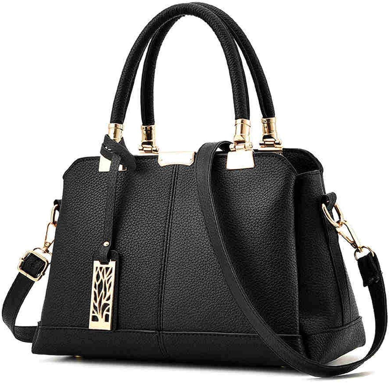 Bloomerang Aelicy Women Leather Handbags Medium Shoulder Bag Vintage Luxury Women Messenger Bag Famous Brands Female Tote Women Handbag color Black