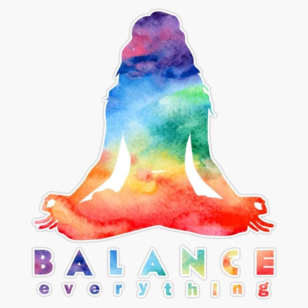 Balance Everything With Meditation Bumper Overseas parallel import regular item Indefinitely Sticker Vinyl