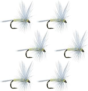 The Fly Fishing Place Pale Morning Dun - PMD - Classic Trout Dry Fly Fishing Flies - Set of 6 Flies Size 16