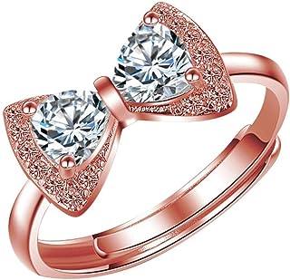 خاتم فضة 925 باحجار كريستال نقية للنساء