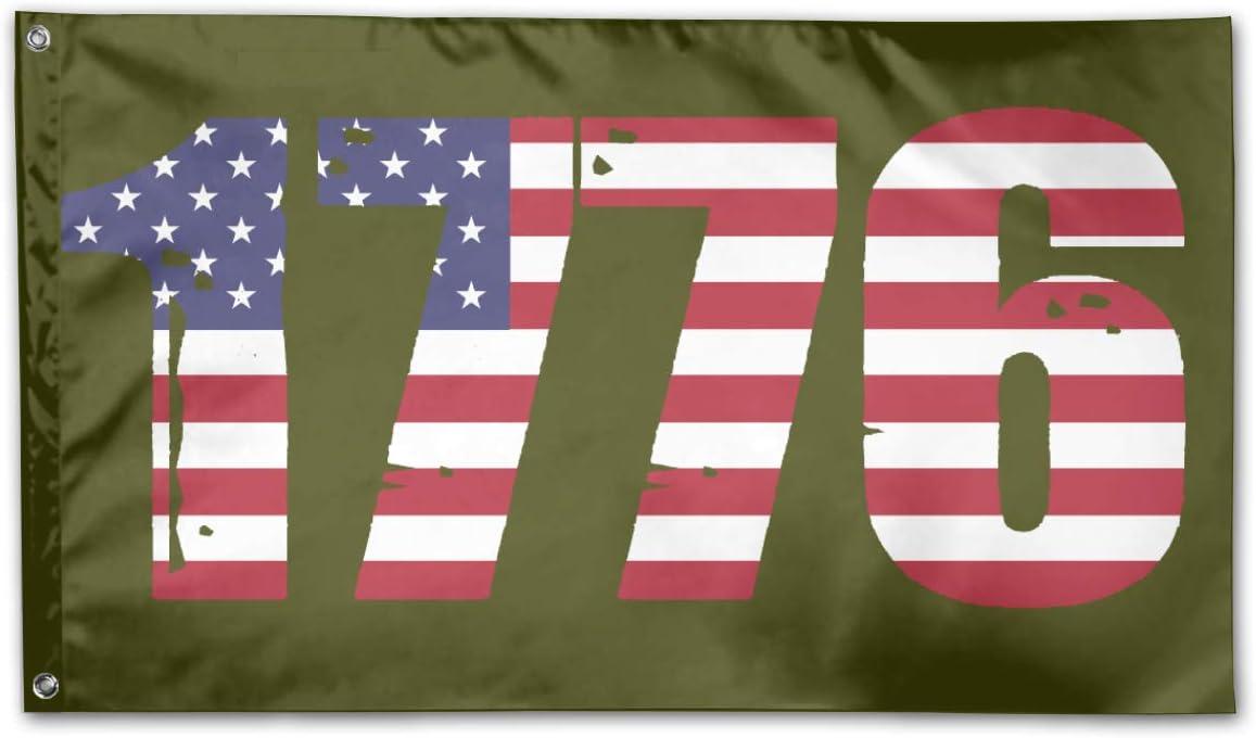 Ninhag Freedom 1776 American Flag Outdoor Flag Home Garden Banner Decorative Flags 3 X 5 Ft Polyester Garden Outdoor Amazon Com