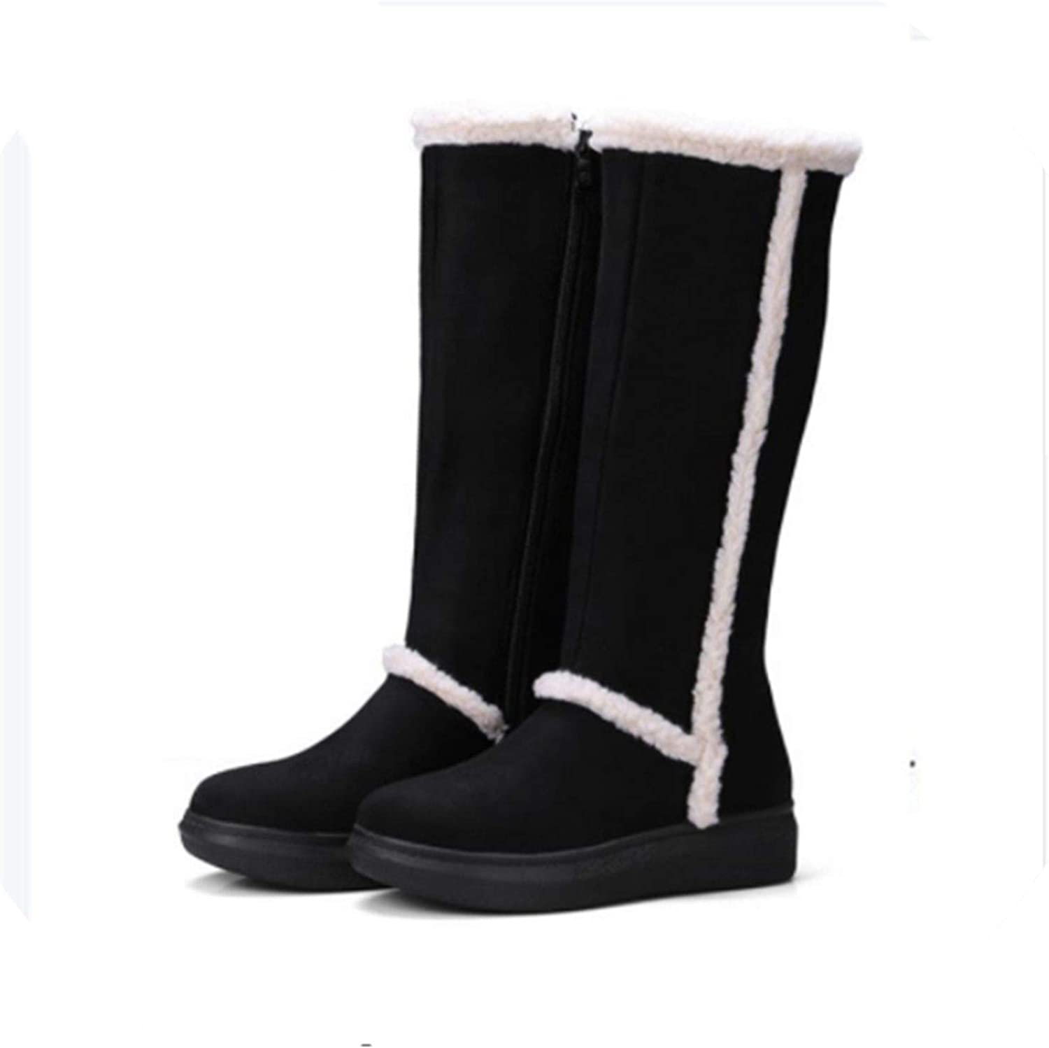 Fashion shoes Women Keep Warm Snow Boots Flats Heels shoes Winter Boots Flock