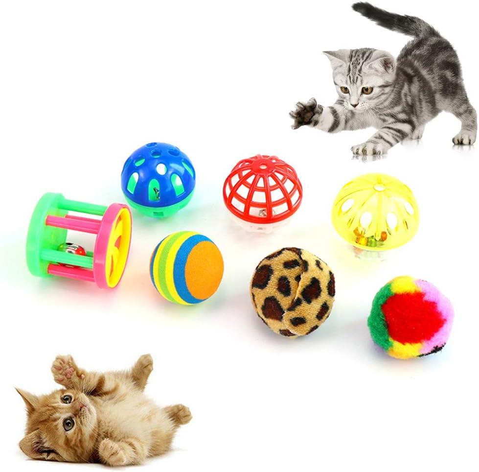 SONGBIRDTH 14Pcs Cat Ball Toy Award - M Bell Kitten Pet Funny Superlatite