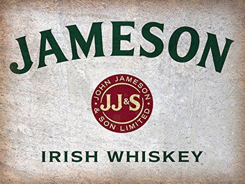 Jameson Whiskey Irish Bar-/Pub Schild, Man Cave, Retro-Wandschild aus Metallblech, Geschenk