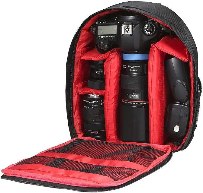 Docooler mochila para fotografía a prueba de golpes mochila para cámara a prueba de agua adecuada para Canon Nikon Sony SLR flash de cámara etc. 33x26x12cm