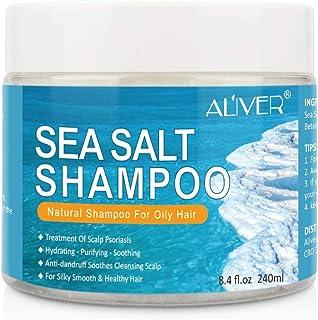 Champú de sal marina champú anticaspa tratamiento del picor del cuero cabelludo para la psoriasis del cuero cabelludo a...