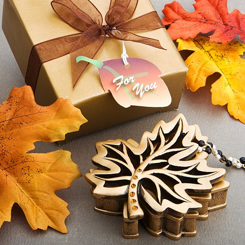 Autumn Allure Collection fall leaf box favors, 1