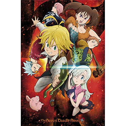 ABYstyle Abysse Corp_ABYDCO453 The Seven Deadly Sins - Póster (91,5 x 61 cm)