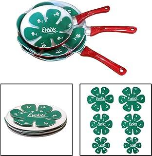 Evelots juego de 6pan & plato almohadillas para orejas para orejas Protector de arañazos para utensilios de cocina/vajilla, verde