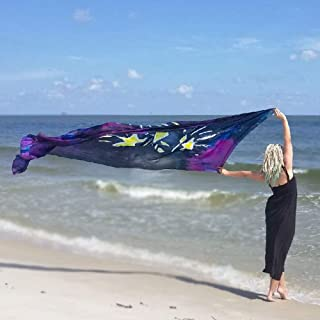 Prophetic STARRY NIGHT Silk Banner, Praise & Worship Dance Flags, Billow, Silk Veil, Worship Flags, Beautiful, Large, 1ct from Catch the Fire Worship Flags
