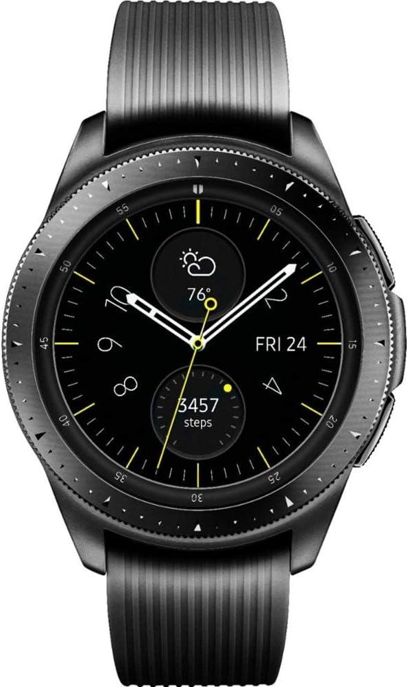Samsung Galaxy Watch GPS & Bluetooth w/ 42mm Black Case & Black Rubber Band