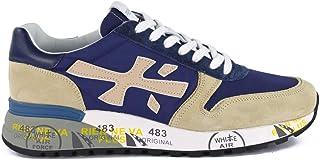 PREMIATA - Uomo Mick 5187 Scarpa Sneakers in Pelle e Tessuto Blu Beige - 32294