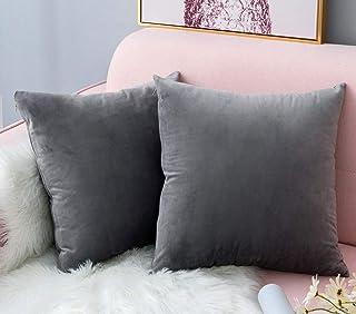 Cuadrada 18x18 //45cm*45cm 45 x 45 cm beetleNew Cushion Cover Funda de coj/ín de Lino y algod/ón con dise/ño de Plumas de Pavo Real