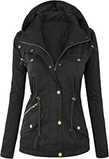 Hashoob Ladies Parka Jacket Women Cotton Casual Trench Coat PK-04