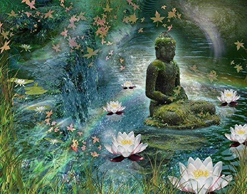 Buddha and Lotus Puzzle Games Jigsaw Puzzles 1000 Pieces for Adults Games for Adults Teens and Kid