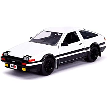 """TOYOTA TRUENO AE86 WHITE /""""INITIAL D FIRST STAGE/"""" TV SERIES 1//32 BY JADA 99801"""