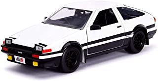 """Toyota Trueno (AE86) with Takumi Diecast Figure """"Initial D First Stage"""" (1998) TV Series """"Hollywood Rides"""" Series 1/24 Die..."""