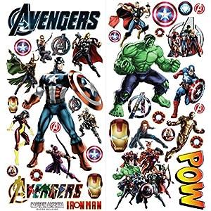 Etiqueta de la pared Avengers Superheroes Vinilo Adhesivo de pared ...