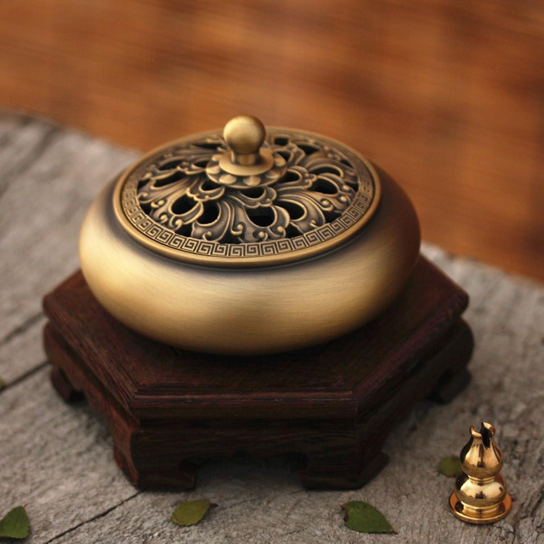[fine Copper] Incense Aroma Stove [Antique] Tea Incense Burners [Decoration] Gift-D