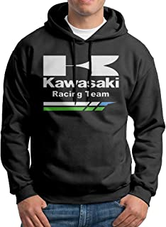 Edgechic Kawasaki Racing Team Men Pullover Black Hoodies